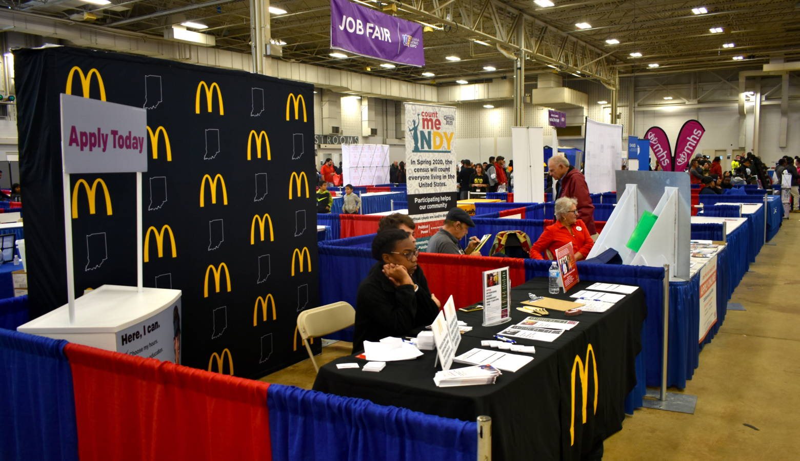 The job fair at the Indiana Latino Expo. (Justin Hicks/IPB News)