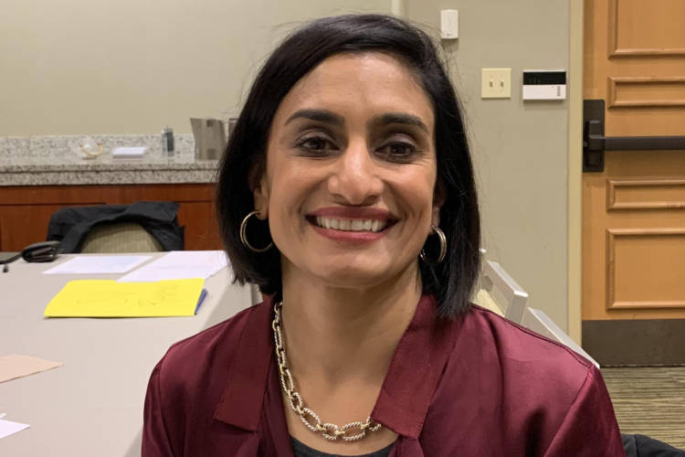 Seema Verma, the country's top Medicare official, says premiums are down an average of 15 percent. (Jill Sheridan/IPB News)