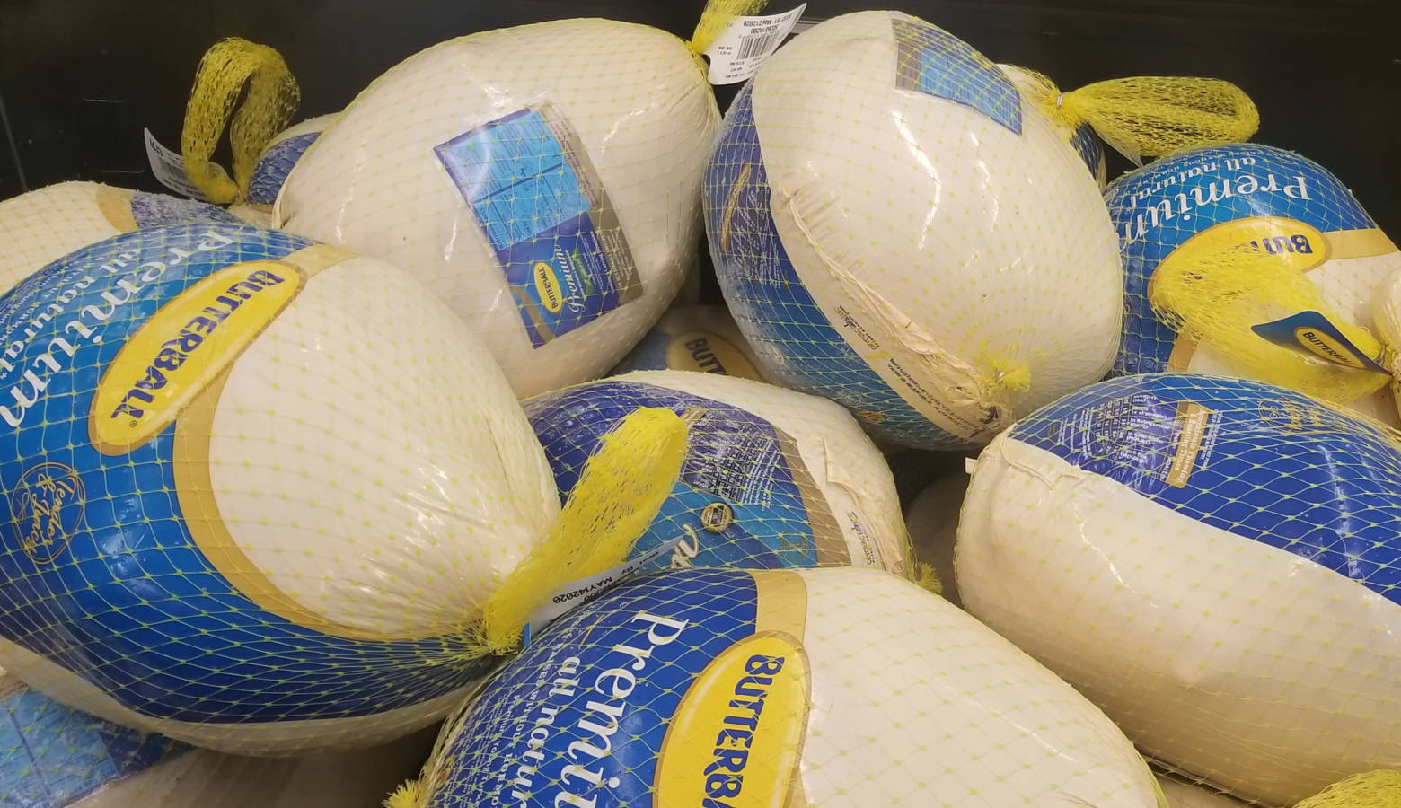 Turkeys for sale at a Meijer in Lafayette, Indiana. (Samantha Horton/IPB News)
