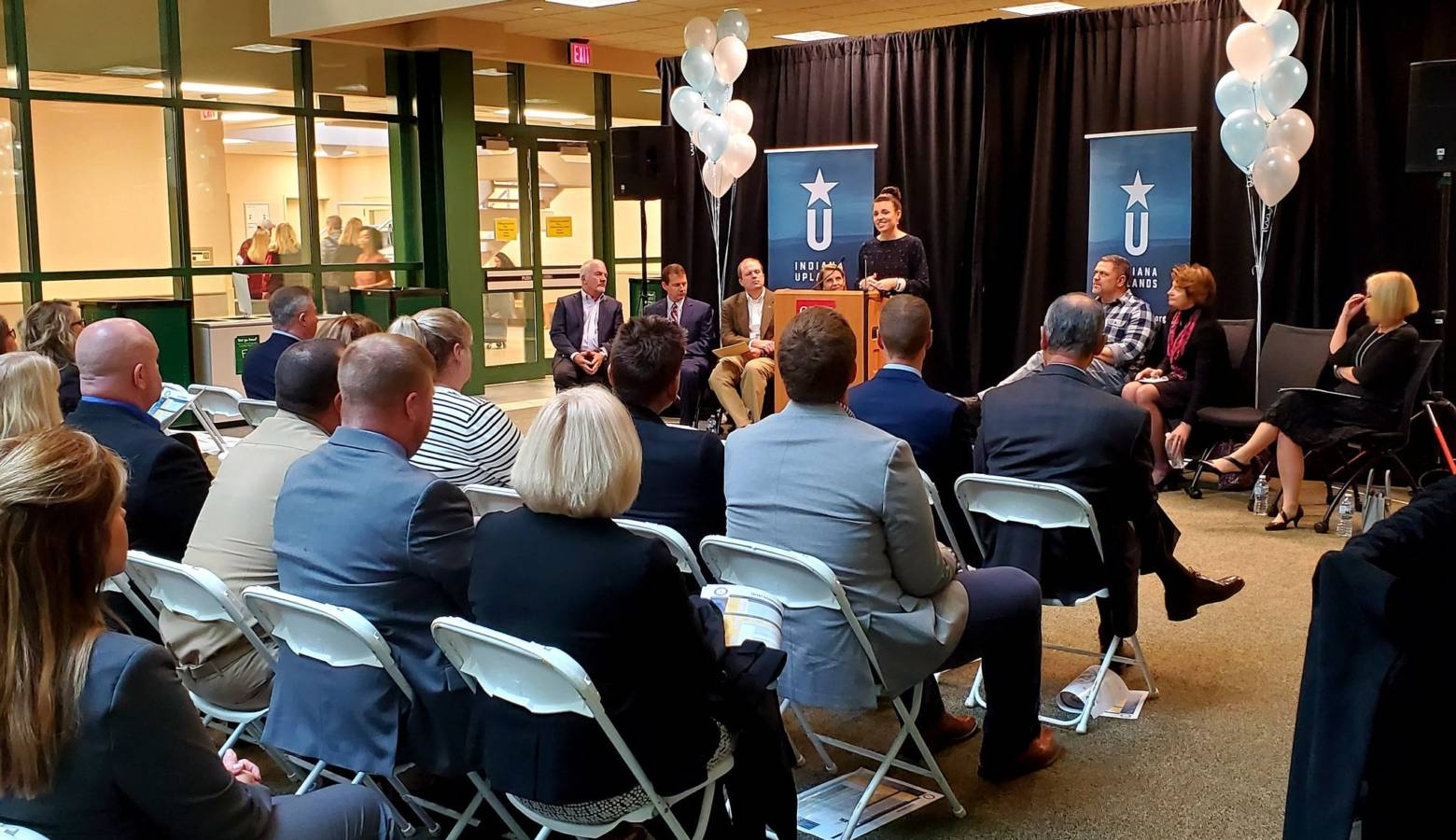 The announcement of the Indiana Uplands 21st Century Talent Region on Monday. (Courtesy of the office of Career Connections and Talent)