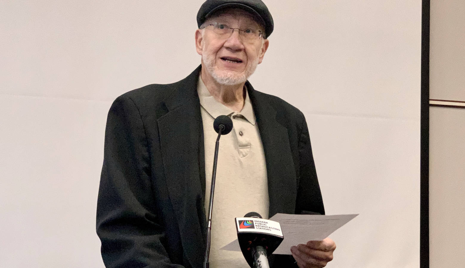Anderson University Professor Emeritus John Aukerman told the BMV people shouldn't be allowed to change the gender on their driver's license. (Brandon Smith/IPB News)