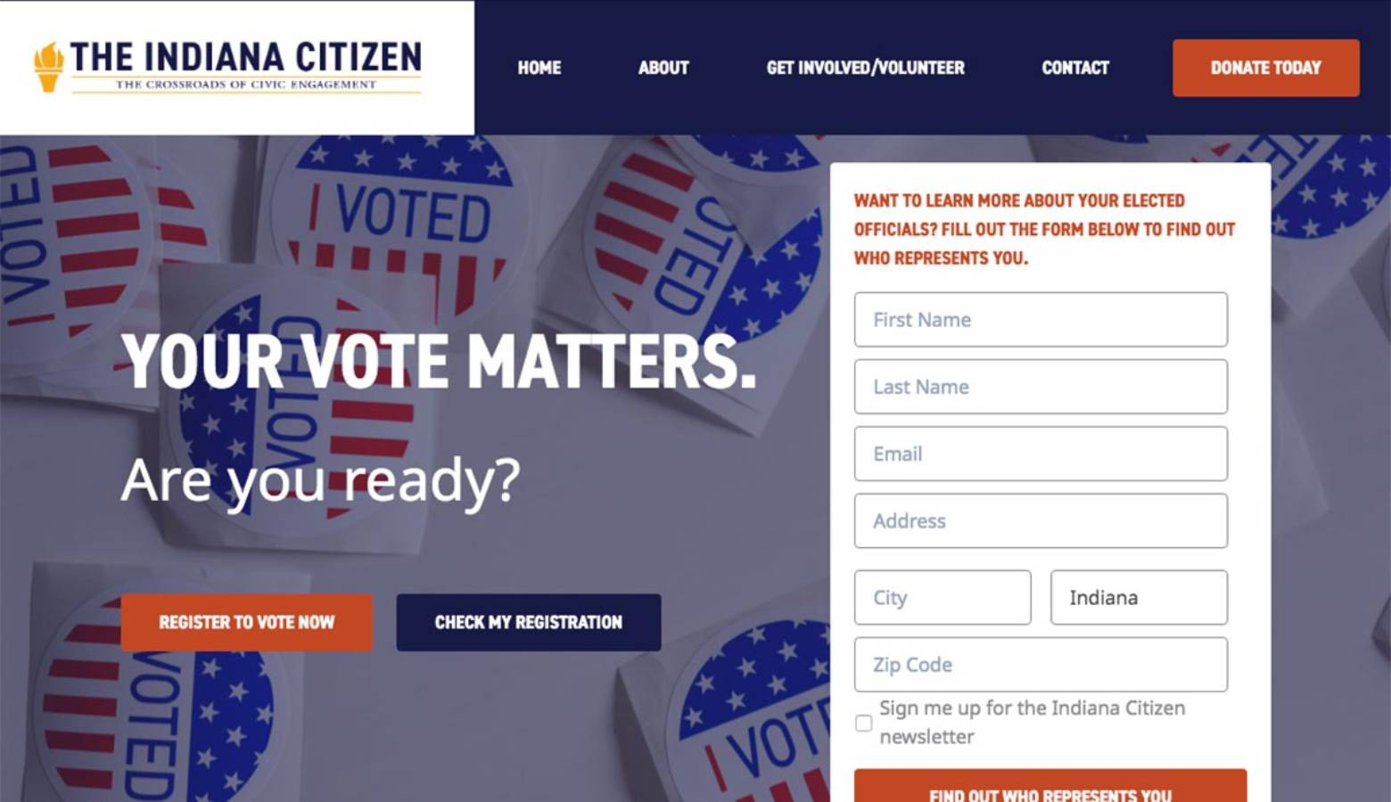 A new non-profit hopes to turn around Indiana's low voter registration and turnout with the launch of a voter engagement effort called the Indiana Citizen. (indianacitizen.org)