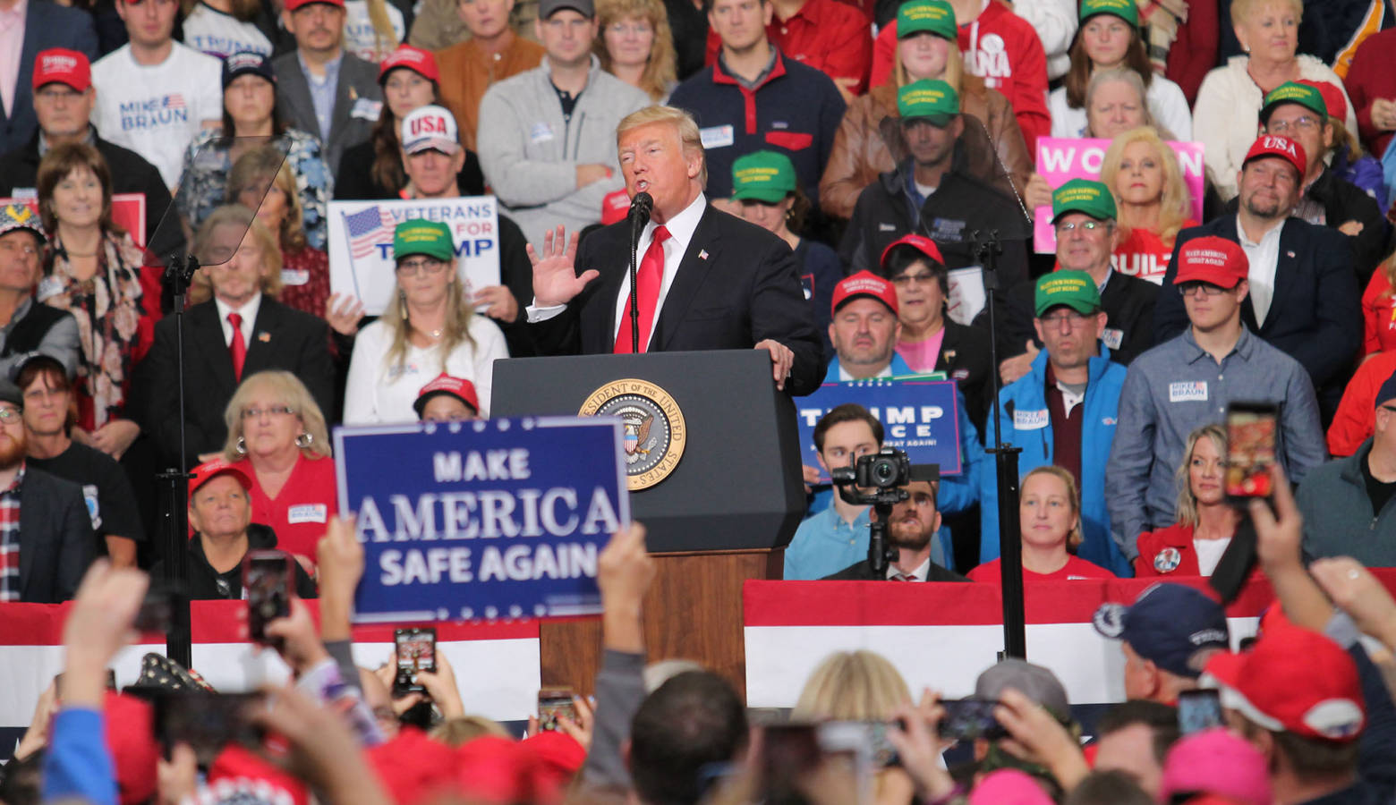 More Hoosiers approve of President Trump's job performance than disapprove, according to the latest edition of Ball State's Hoosier Survey. (FILE PHOTO: Lauren Chapman/IPB News)