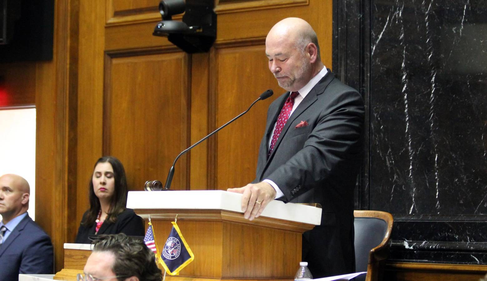 House Speaker Brian Bosma announces the 2020 legislative session will be his last. (Lauren Chapman/IPB News)