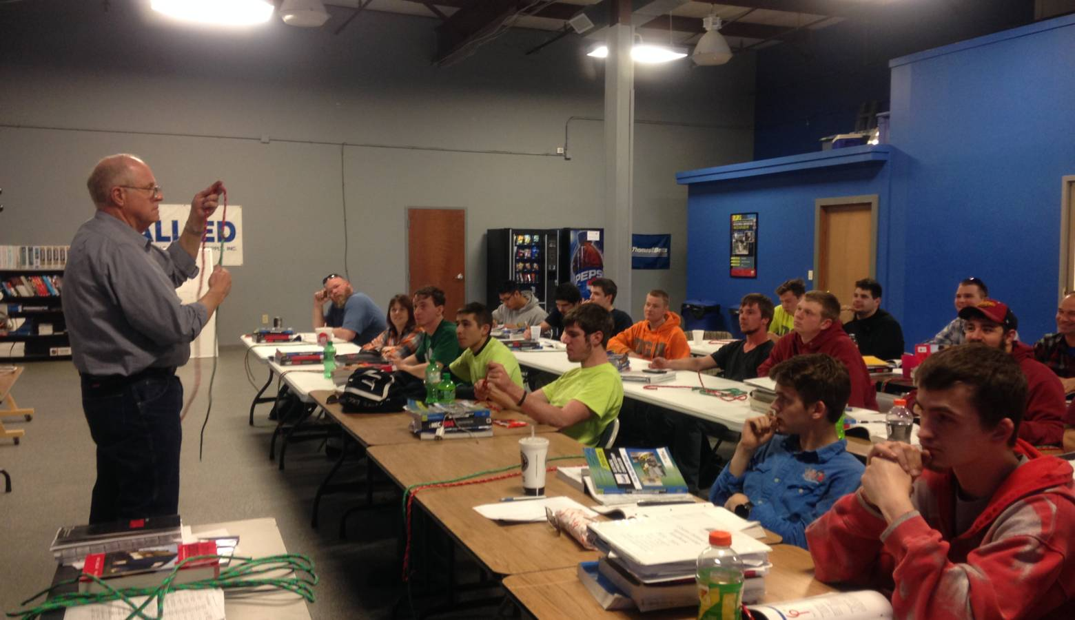 Apprentices taking a class with the Central Indiana Independent Electrical Contractors. (Courtesy Central Indiana IEC)