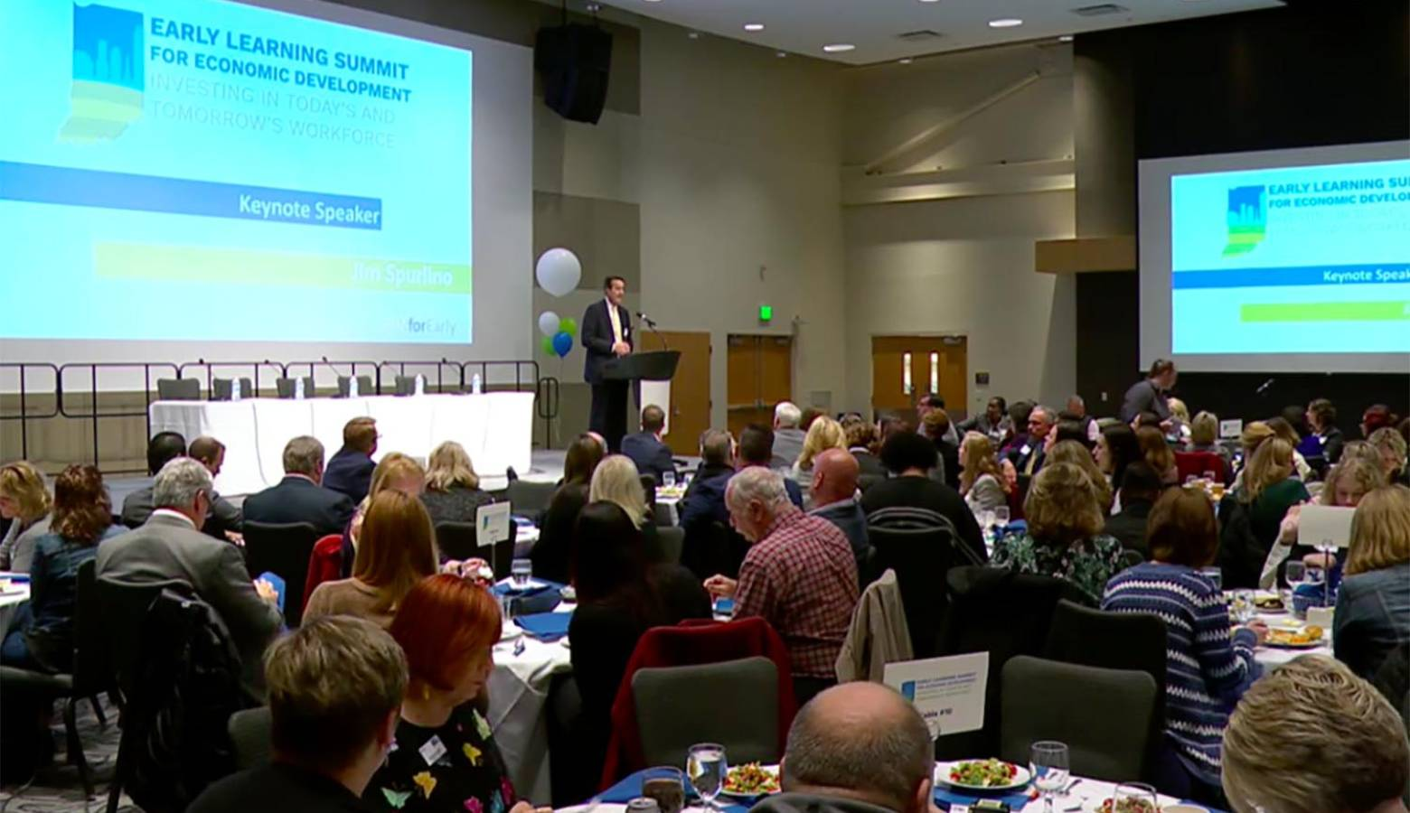 The Indiana Early Learning Summit brought together business leaders to discuss workforce issues related to childcare. (Courtesy of Indiana Early Learning Summit)