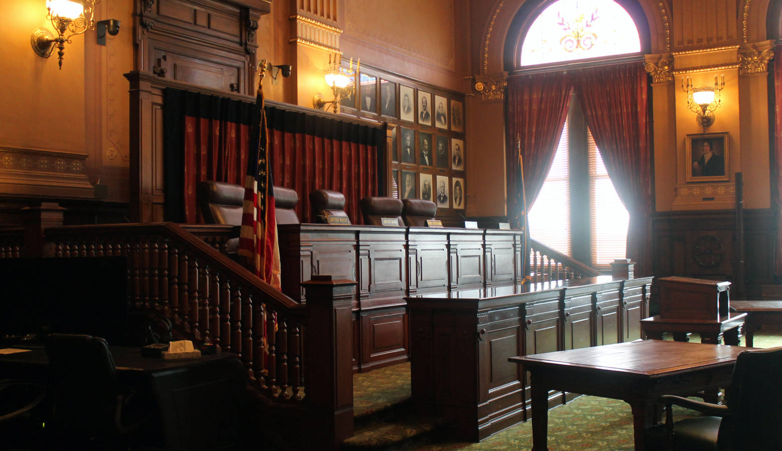 The Indiana Supreme Court chamber. (Lauren Chapman/IPB News)