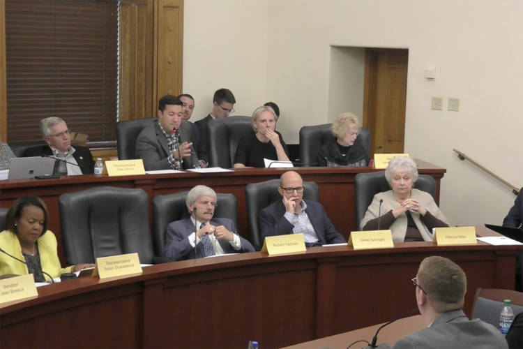 An interim public health committee met for the last time at the Statehouse. (Indiana General Assembly)