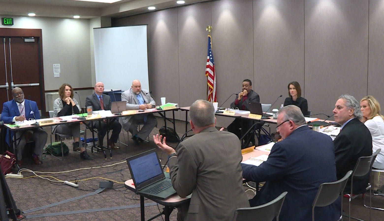 The Indiana Board of Education meeting on Dec. 4, 2019. (Jeanie Lindsay/IPB News)
