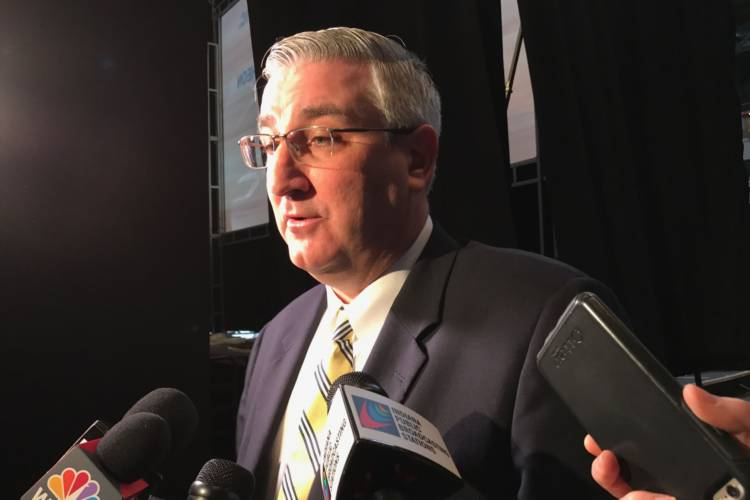 Gov. Eric Holcomb will unveil his administration's agenda for 2020 Tuesday in Terre Haute. (FILE PHOTO: Brandon Smith/IPB News)