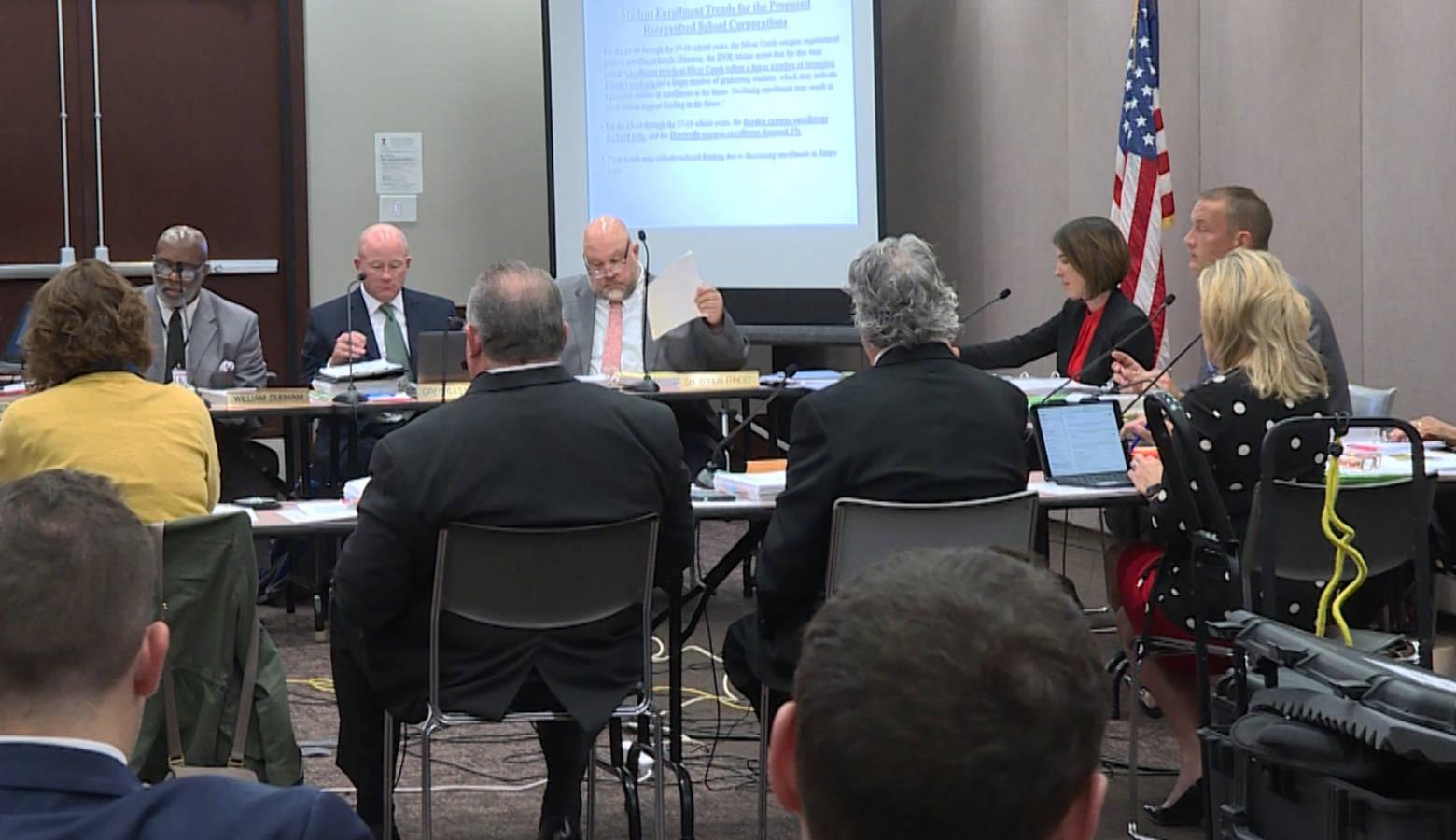 State Board of Education members at their November meeting. (Jeanie Lindsay/IPB News)