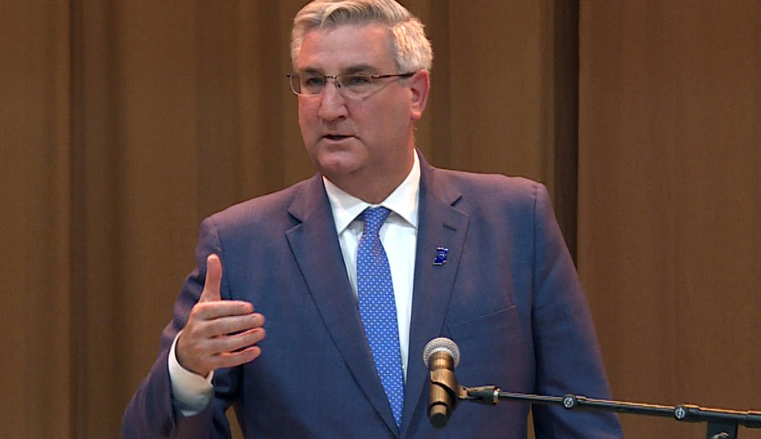 Gov. Eric Holcomb will deliver his fourth State of the State address Tuesday evening. (FILE PHOTO: Zach Herndon/WTIU)
