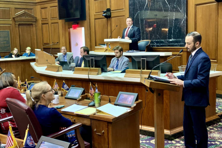 Testimony during the House Public Health Committee's debate of legislation to raise the legal smoking and vaping age to 21. (Brandon Smith/IPB News)