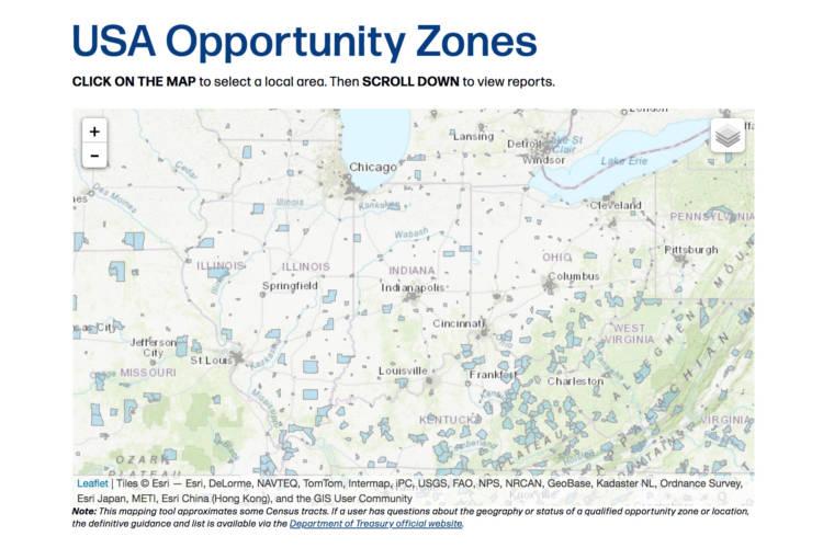 (Courtesy of StatsAmerica Opportunity Zone Map)