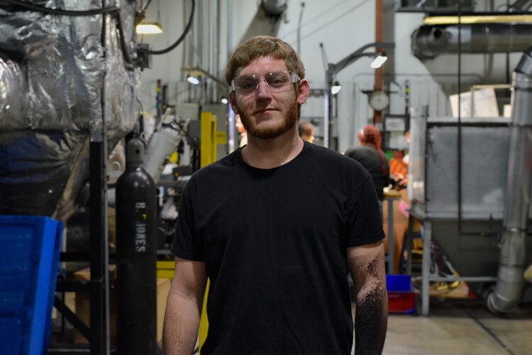 Zach Ritchie is the first graduate of the Potter's House, a collaboration between a group of North Vernon pastors and Decatur Plastic Products. (Justin Hicks/IPB News)