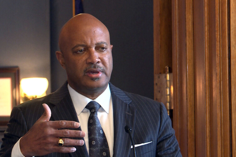 """A disciplinary hearing officer says Attorney General Curtis Hill's conduct was """"offense, invasive, damaging and embarrassing."""" (FILE PHOTO: Lauren Chapman/IPB News)"""