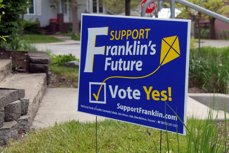 Franklin Community Schools asked voters to approve a referendum for the first time last year during a primary election. If the current language in HB 1222 remains, referenda would be limited to general elections. (Lauren Chapman/IPB News)