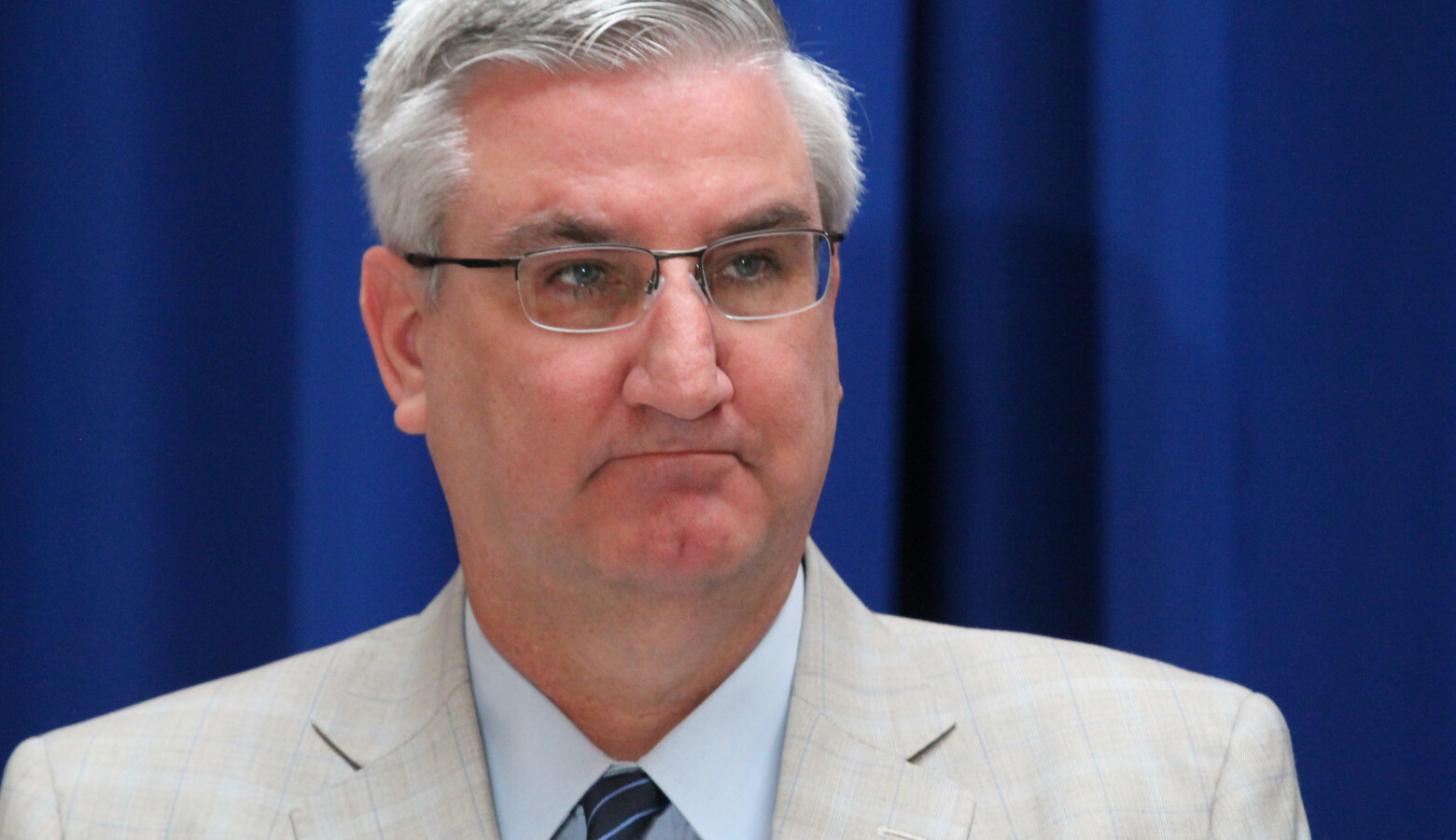 """Gov. Eric Holcomb is ordering all Hoosiers to stay at home for the next two weeks unless they're conducting """"essential business."""" (Lauren Chapman/IPB News)"""