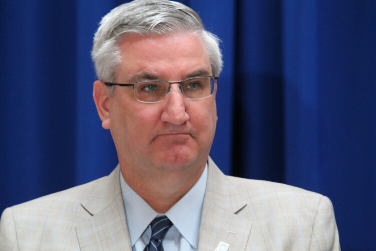 "Gov. Eric Holcomb is ordering all Hoosiers to stay at home for the next two weeks unless they're conducting ""essential business."" (Lauren Chapman/IPB News)"