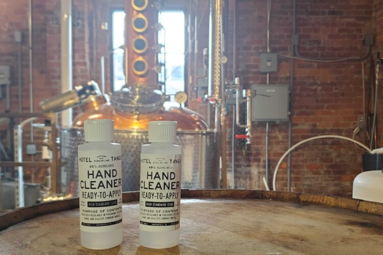 Hotel Tango Distillery has produced hand cleaner in response to the shortages of hand sanitizer. (Samantha Horton/IPB News)