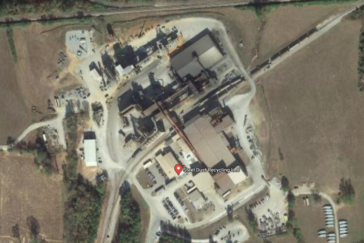 An aerial of a similar facility called Steel Dust Recycling in Millport, Alabama. (Courtesy of Google Maps)