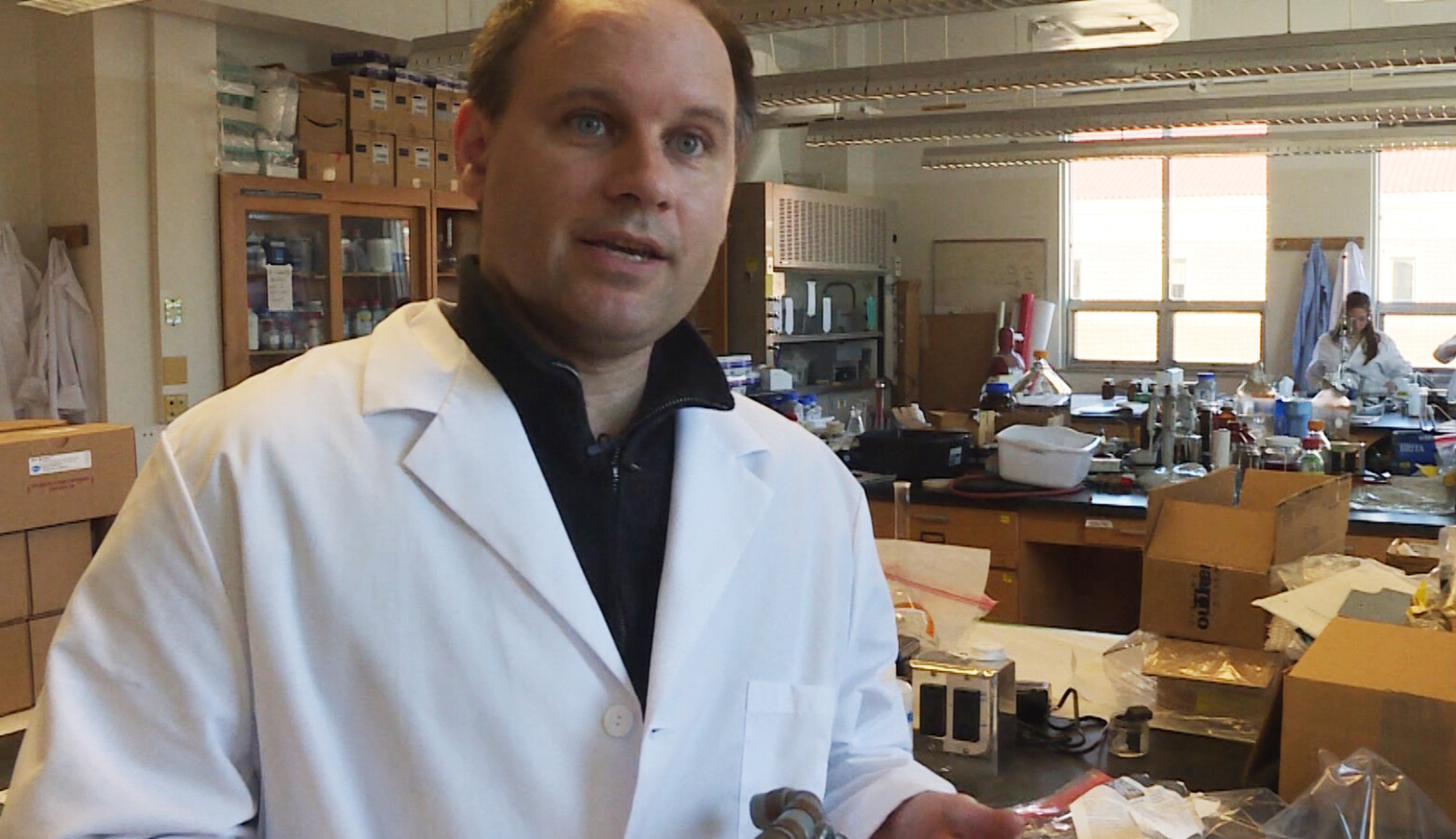 "Purdue University professor Andrew Whelton says many so-called ""lead-free"" plumbing valves actually contain lead. (Rebecca Thiele/IPB News)"