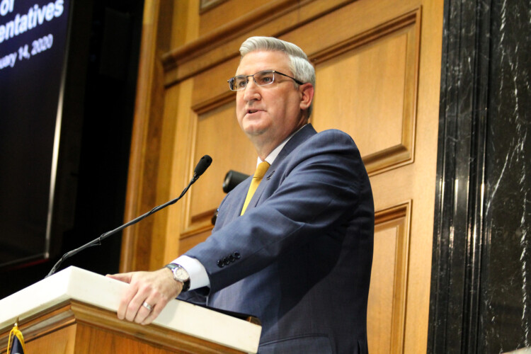 Gov. Eric Holcomb's office announced new steps Monday to prevent the spread of the novel coronavirus in Indiana. (FILE PHOTO: Lauren Chapman/IPB News)