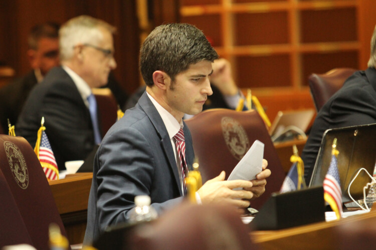 Rep. Tim Wesco (R-Osceola) says his amendment is good policy – outside of the groping allegations against Attorney General Curtis Hill. (Lauren Chapman/IPB News)