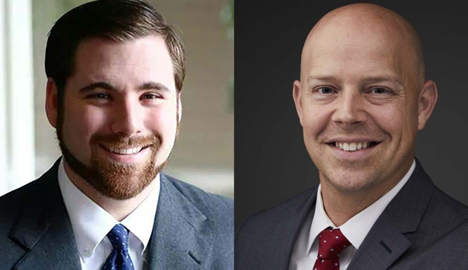 Decatur County Prosecutor Nate Harter, left, joined the Republican race for the Attorney General nomination as former Indiana Department of Revenue Commissioner Adam Krupp, right, dropped out and endorsed Harter. (Courtesy of Indiana Prosecuting Attorneys