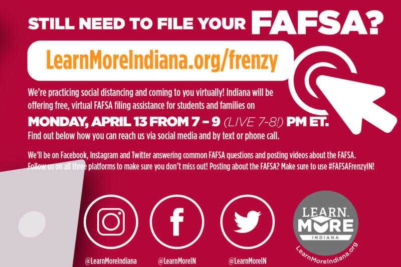 The Commission For Higher Education staff will use the agency's Learn More Indiana social media accounts to help answer questions during Monday night's event. (Learn More Indiana/Facebook)