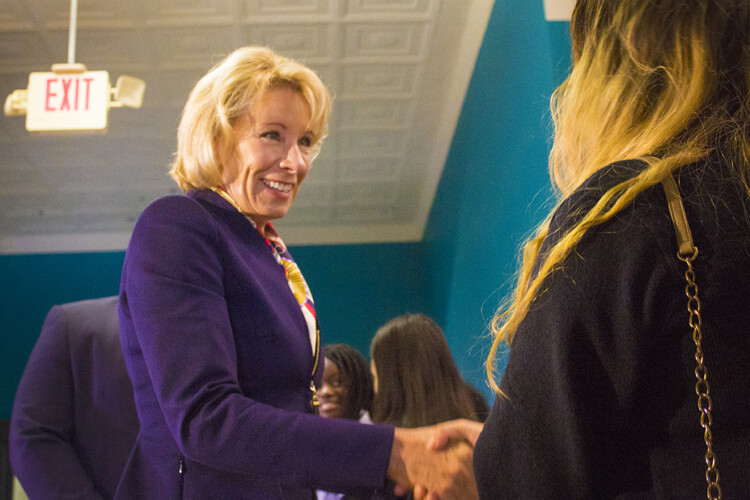 U.S. Education Secretary Betsy DeVos's latest guidance on emergency relief money for K-12 schools has education leaders puzzled. (FILE PHOTO: Peter Balonon-Rosen/IPB News)