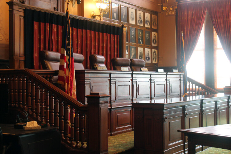 The Indiana Supreme Court refused to tell Gov. Eric Holcomb whether he can appoint a replacement for Attorney General Curtis Hill. (Lauren Chapman/IPB News)