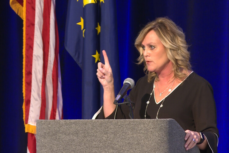 Jennifer McCormick leads the Indiana Department of Education as the state's last elected superintendent of public instruction. (Jeanie Lindsay/IPB News)