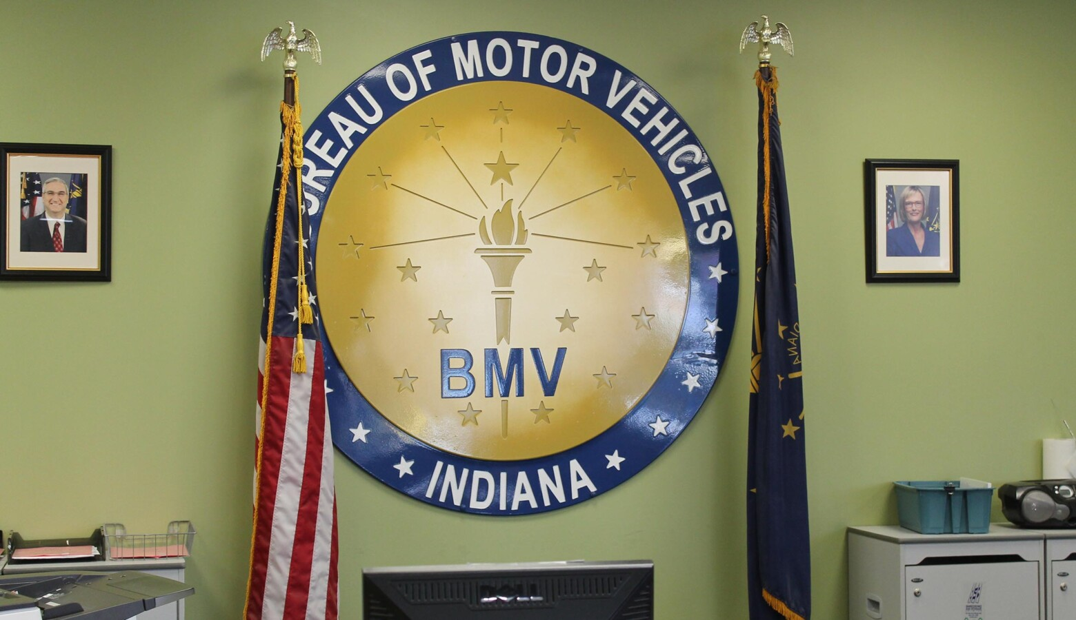 "Indiana's BMV branches shut down in March as the governor issued a ""Stay-At-Home"" order. They began to re-open in May. (Lauren Chapman/IPB News)"