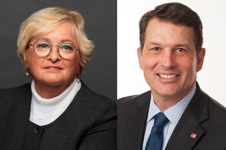 Sen. Karen Tallian (D-Ogden Dunes), left, and former Evansville Mayor Jonathan Weinzapfel are Indiana Democrats' candidates for Attorney General. (Courtesy of the Tallian and Weinzapfel campaigns)