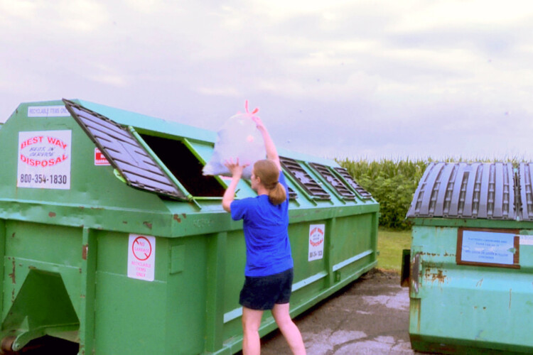 This recycling drop-off site in Johnson County was closed in 2018 due to the China reyclcing ban, but reopened in 2019. (Rebecca Thiele/IPB News)