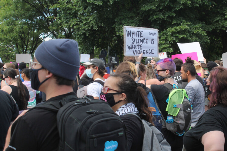 Protests around the nation against police brutality and systemic racism have prompted a number of organizations to have more conversations about race and equity, including teachers. (Lauren Chapman/IPB News)