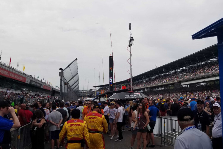 Spectators arrive before the start of the 2019 Indianapolis 500 at the Indianapolis Motor Speedway. (FILE PHOTO: Samantha Horton/IPB News)