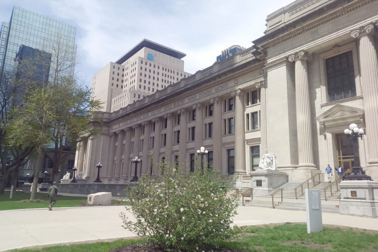 The Birch Bayh federal courthouse in downtown Indianapolis. (Lauren Chapman/IPB News)