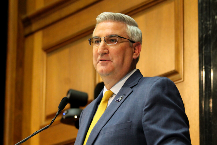 Gov. Eric Holcomb says the state will find resources for its rental assistance program if the initial funding is exhausted. (Lauren Chapman/IPB News)