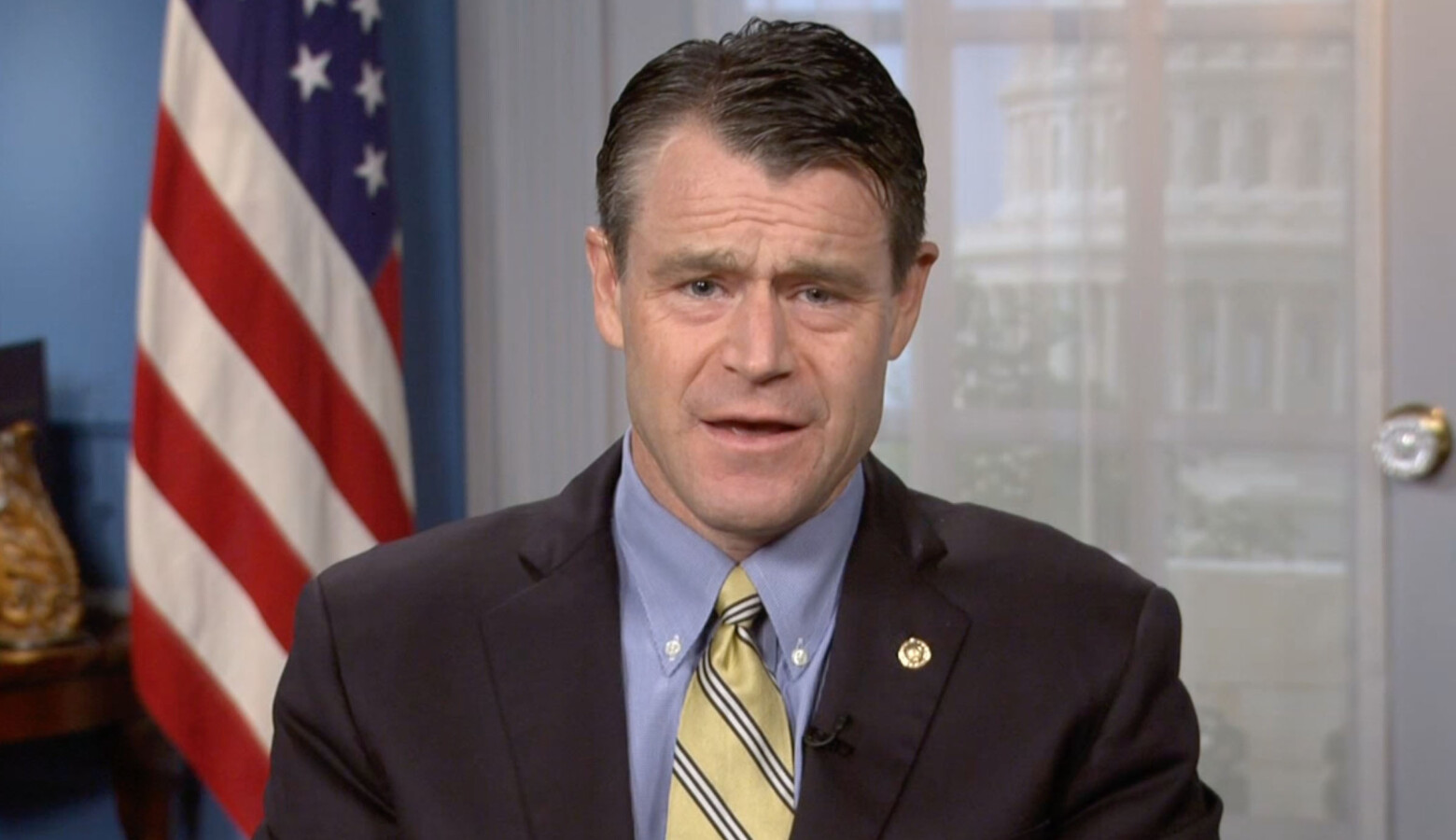 """Sen. Todd Young (R-Ind.) said he wants the federal government's next round of COVID-19 relief to be """"targeted"""" at those who need help most. (Screenshot)"""
