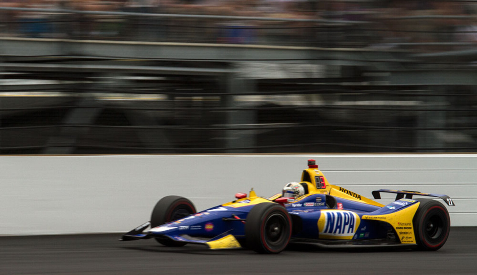 Alexander Rossi finished second in the 103rd running of the Indianapolis 500 on Sunday, May 26, 2019. (FILE PHOTO: Doug Jaggers/WFYI News)