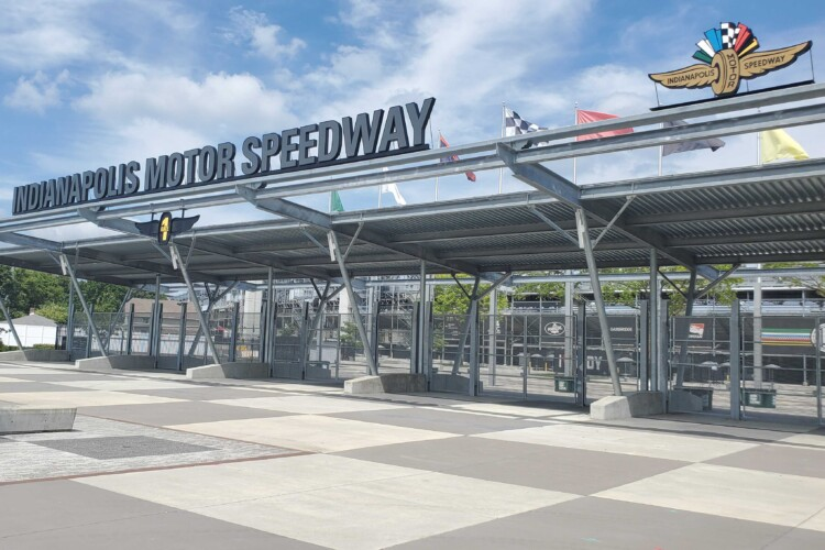 Indianapolis Motor Speedway Gate 1 where tens of thousands of fans would usually pass through to watch the Indy 500. (Samantha Horton/IPB News)