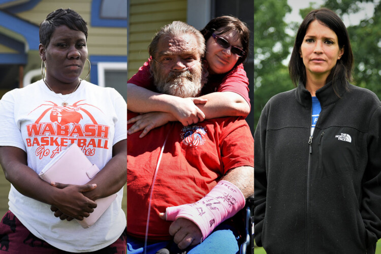 Christina Rush, Rebecca Schreck, and Karina Oertel are three examples of the hundreds of thousands of Hoosiers who have lost their jobs and income during the COVID-19 pandemic. (Justin Hicks/IPB News)