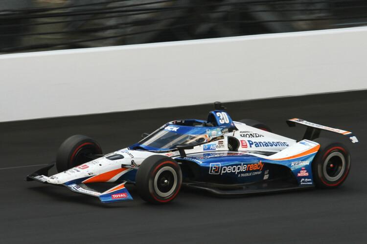 Takuma Sato won the 104th running of the Indianapolis 500 Sunday. (Doug Jaggers/WFYI News)