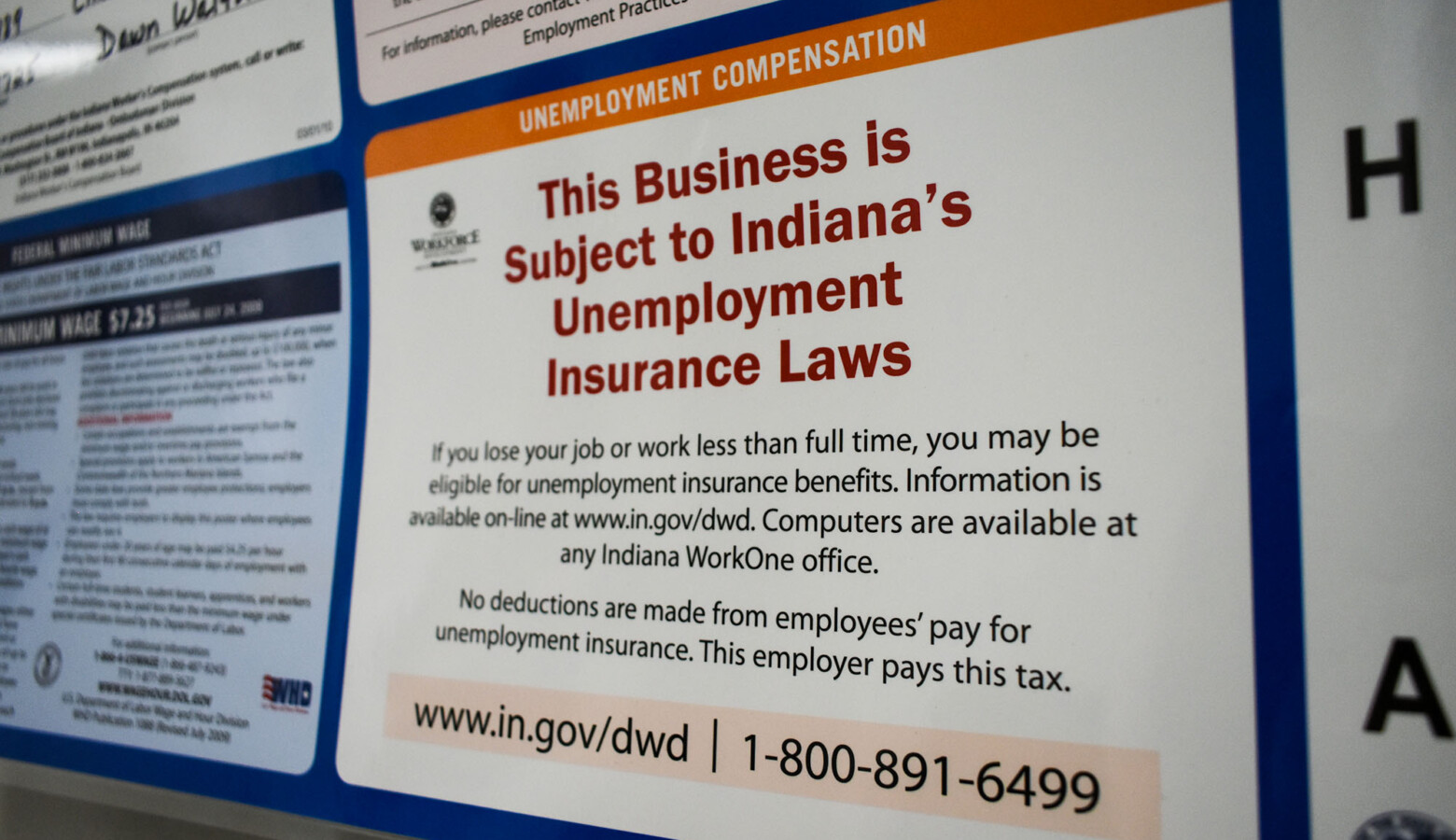 The Department of Workforce Development says it will borrow from the federal government to shore up its unemployment trust fund. (Justin Hicks/IPB News)