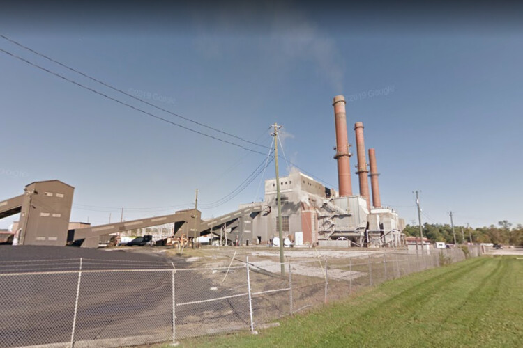Switching from coal to natural gas at Indianapolis Power & Light's Eagle Valley Generating Station helped Morgan County to lower its sulfur dioxide emissions. (Courtesy of Google Maps.)