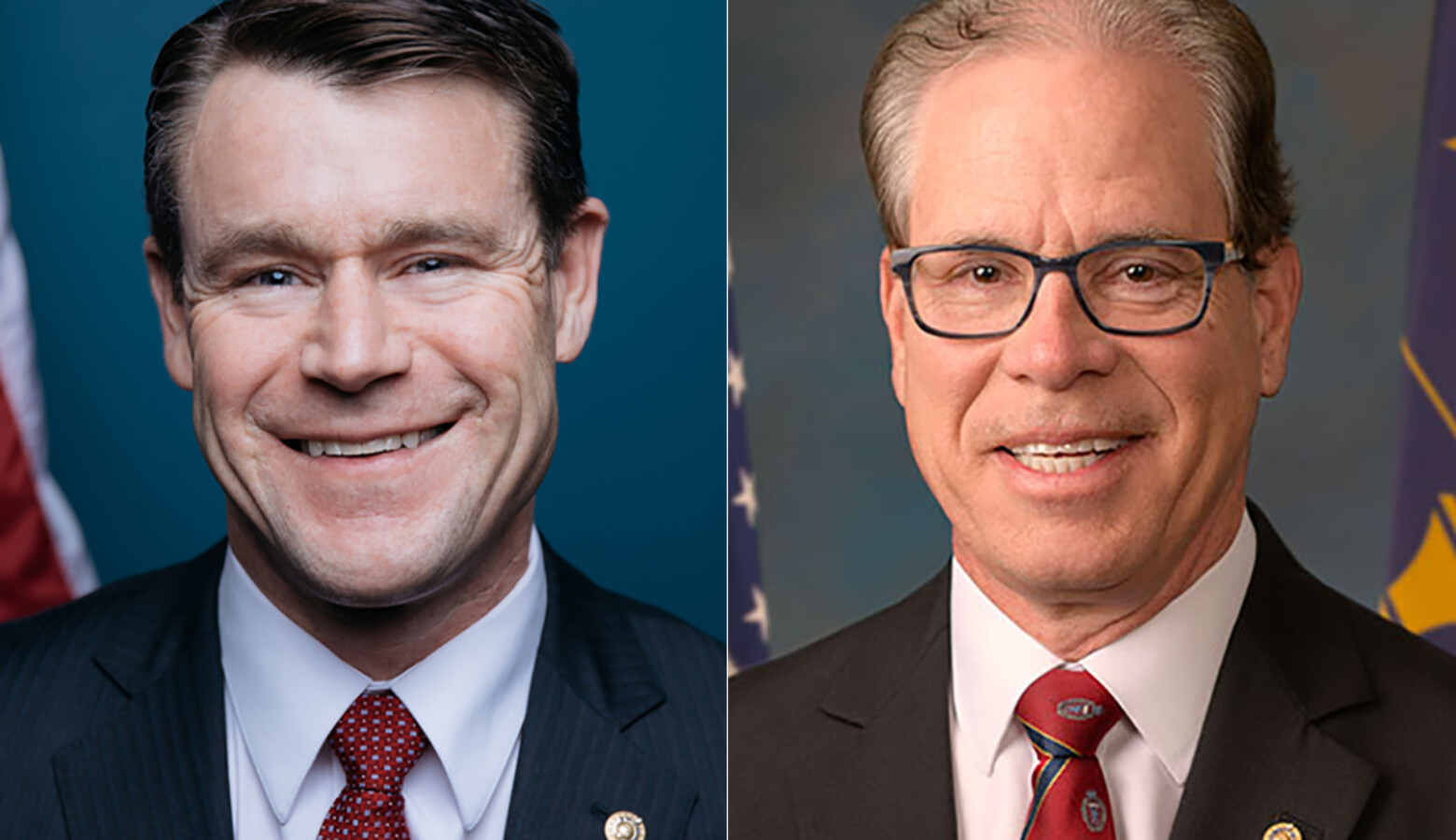U.S. Sens. Todd Young (R-Ind.), left, and Mike Braun (R-Ind.), right, both want the Senate to approve President Trump's Supreme Court nominee before the Nov. 3 election. (Courtesy of Young and Braun's offices)