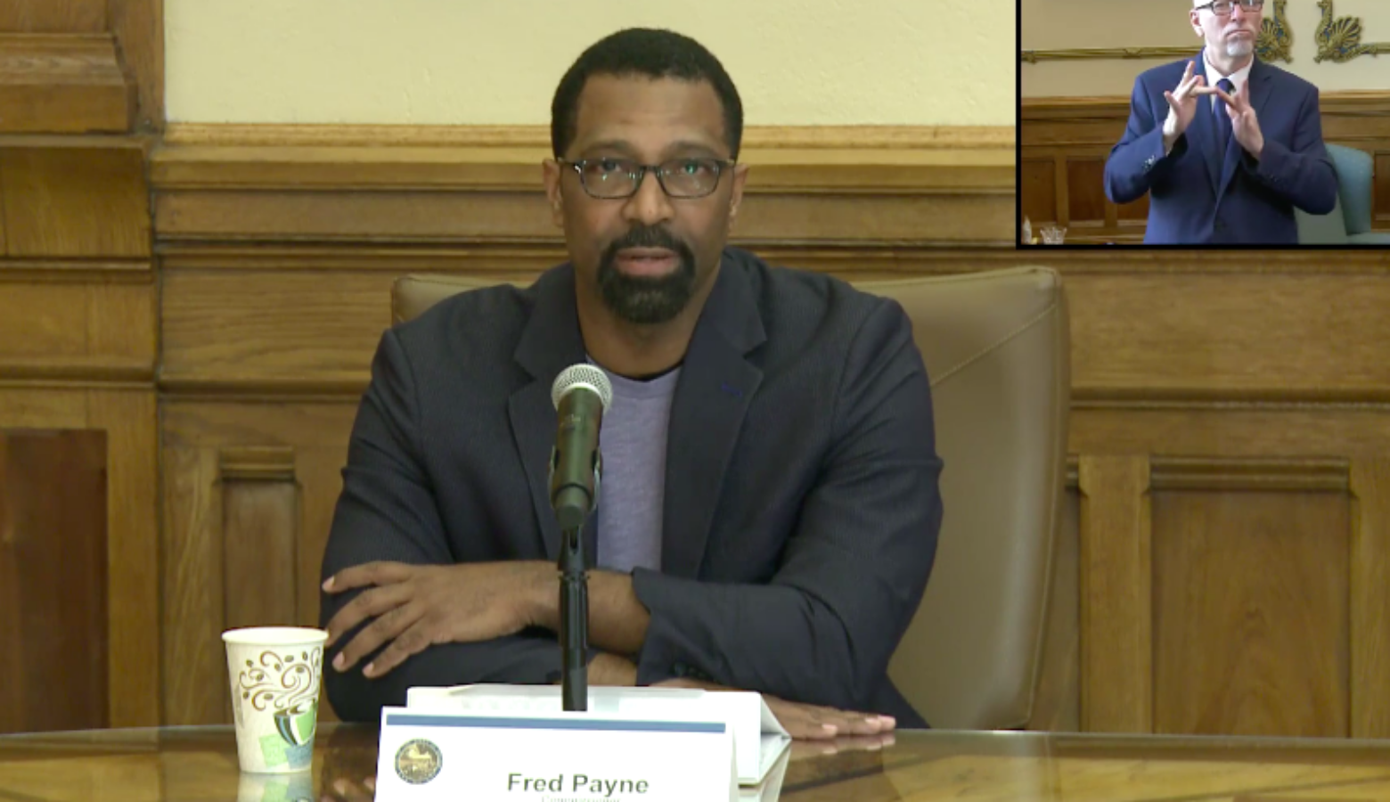 Fred Payne, commissioner of the Indiana Department of Workforce Development, gives an update on the agency's actions at a virtual press conference. (Zoom screenshot)