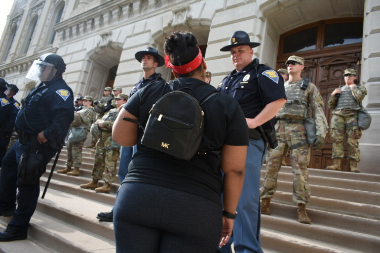 Indianapolis, like many communities around the state and the country, saw protests over racial injustice and police brutality over the summer. (Justin Hicks/IPB News)